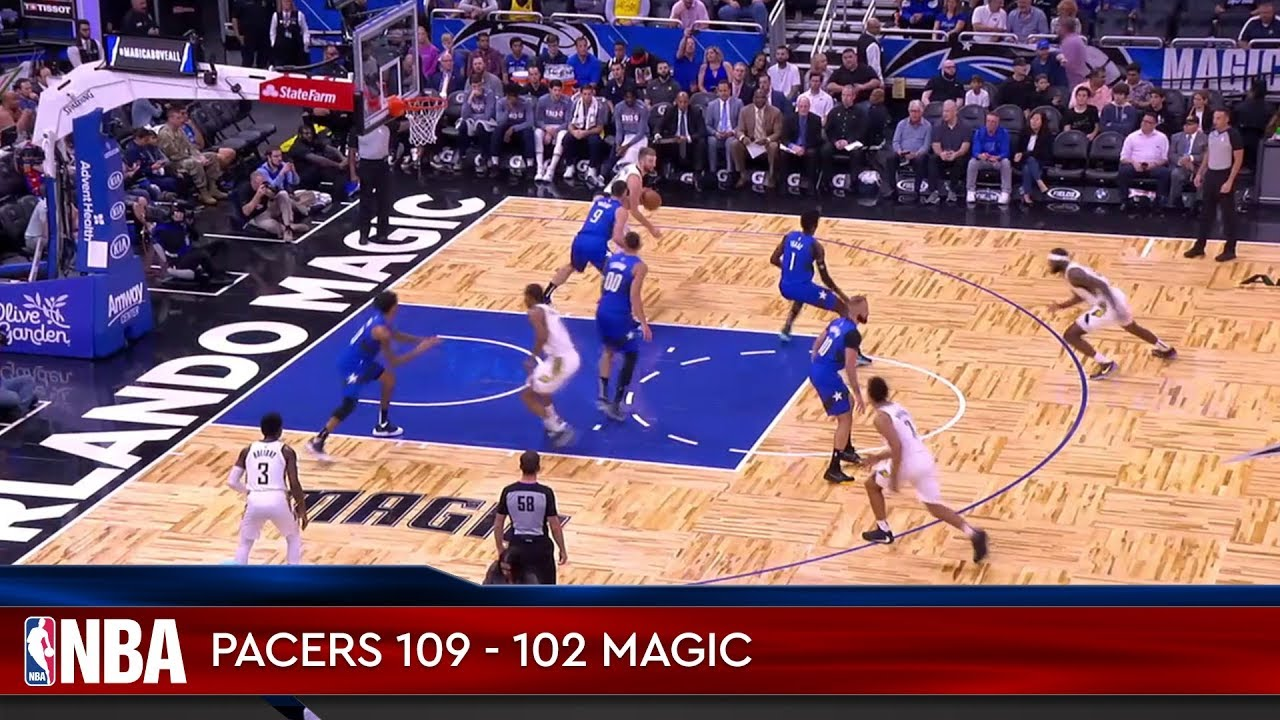 Indiana Pacers 109 - 102 Orlando Magic
