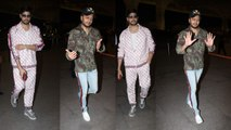 Spotted: Sidharth Malhotra & Riteish Deshmukh fly to delhi to promote their film Marjaavaan