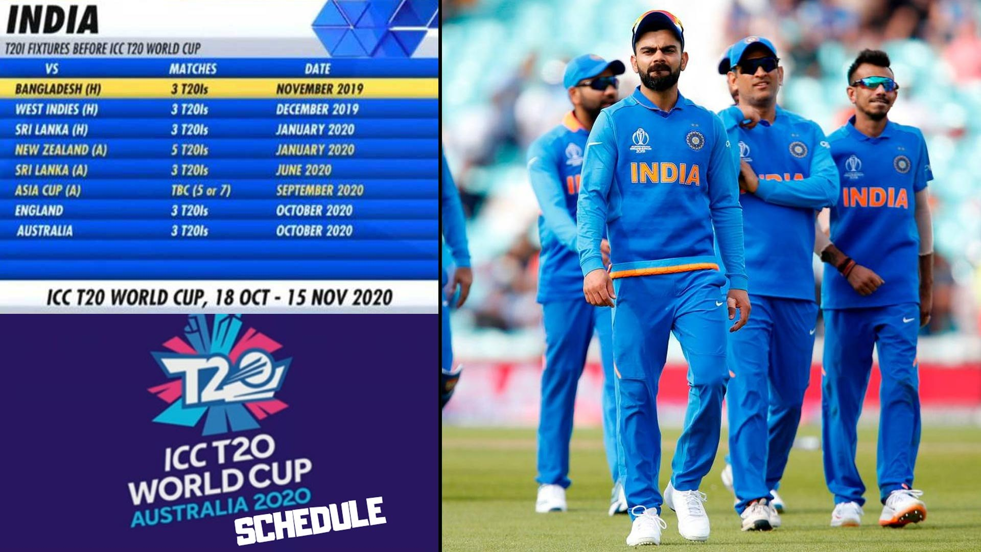 Icc T20 World Cup 2020 Team India S Complete T20 Schedule Before T20 World Cup 2020 Oneindia Video Dailymotion