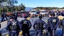 El Tsunami separatista corta el tráfico en La Junquera