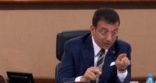İBB Meclisi'nde İmamoğlu'nu kızdırdılar: Elini indir, haddini bildiririm sana