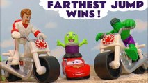 Disney Pixar Cars 3 Lightning McQueen in Hot Wheels Farthest Jump Wins with Toy