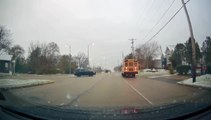 Car Gets Chased by Cops for Not Stopping for School Bus With Kids Dismounting