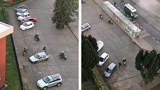 5 motards de la police pour tenter d'arrêter un homme à pied