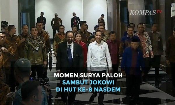 Momen Surya Paloh Sambut Jokowi dan Megawati di HUT ke-8 Nasdem