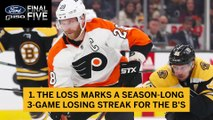 Ford Final Five Facts: Bruins 3-Game Losing Streak