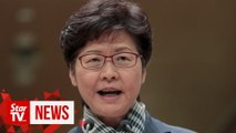 Carrie Lam says HK government won't yield to escalating violence