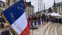 Commémoration de l'Armistice du 11 Novembre 1918 place Aristide-Briand au Mans