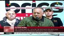 Venezuela: Diosdado Cabello condena golpe de Estado a Evo Morales Ayma