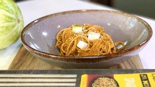 Spaghetti con adobo y chilacayote - Cocina con Conexión - Sonia Ortiz con Juan Farré