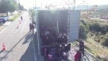 El Ejército turco descubre a 82 afganos afinados en un camión