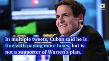 Mark Cuban Calls Elizabeth Warren's Wealth Tax Plan 'Unrealistic'