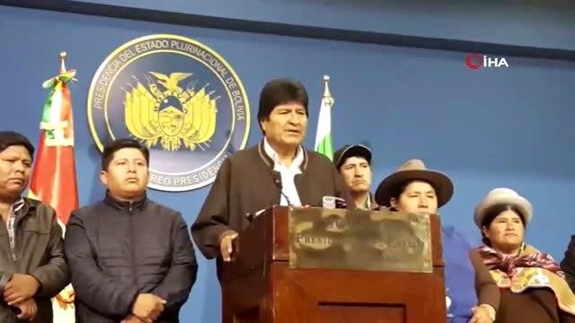 """- İstifa eden Morales, hakkındaki tutuklama emrini """"yasadışı"""" olarak nitelendirdi"""