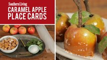 How To Make Caramel Apple Place Cards