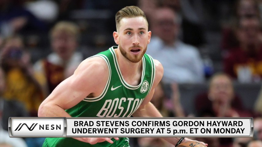 Brad Stevens Confirms Gordon Hayward Underwent Hand Surgery