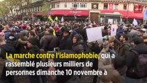 Une étoile jaune à la marche contre l'islamophobie