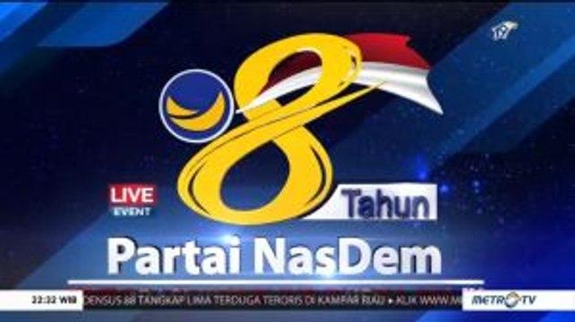 Pidato Surya Paloh dan Presiden Jokowi di HUT ke-8 Partai NasDem