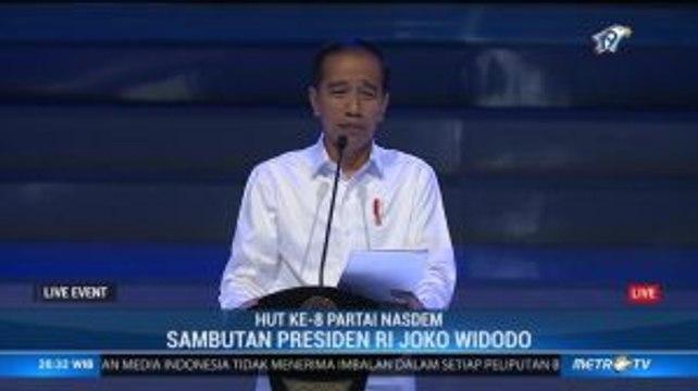 Sambutan Presiden Jokowi di HUT ke-8 Partai NasDem