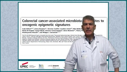 Colorectal cancer-associated microbiota contributes to oncogenic epigenetic signatures