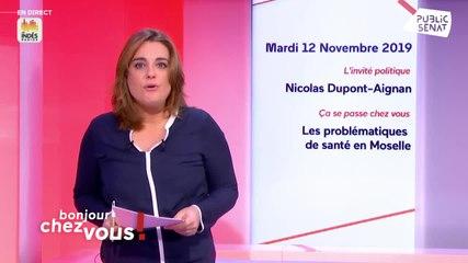 Nicolas Dupont-Aignan - Bonjour chez vous ! (Public Sénat) - Mardi 12 novembre