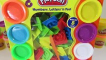 Learn to Count with Play Doh Numbers, Letters n' Fun Educational Playset-