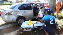Perseguição policial termina em acidente, na Avenida Rocha Pombo