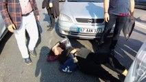 Zonguldak çarptığı kadının başından ayrılmadı