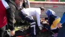 Bursa-motosikletliye çarptıktan sonra sinir krizi geçirip, ağladı