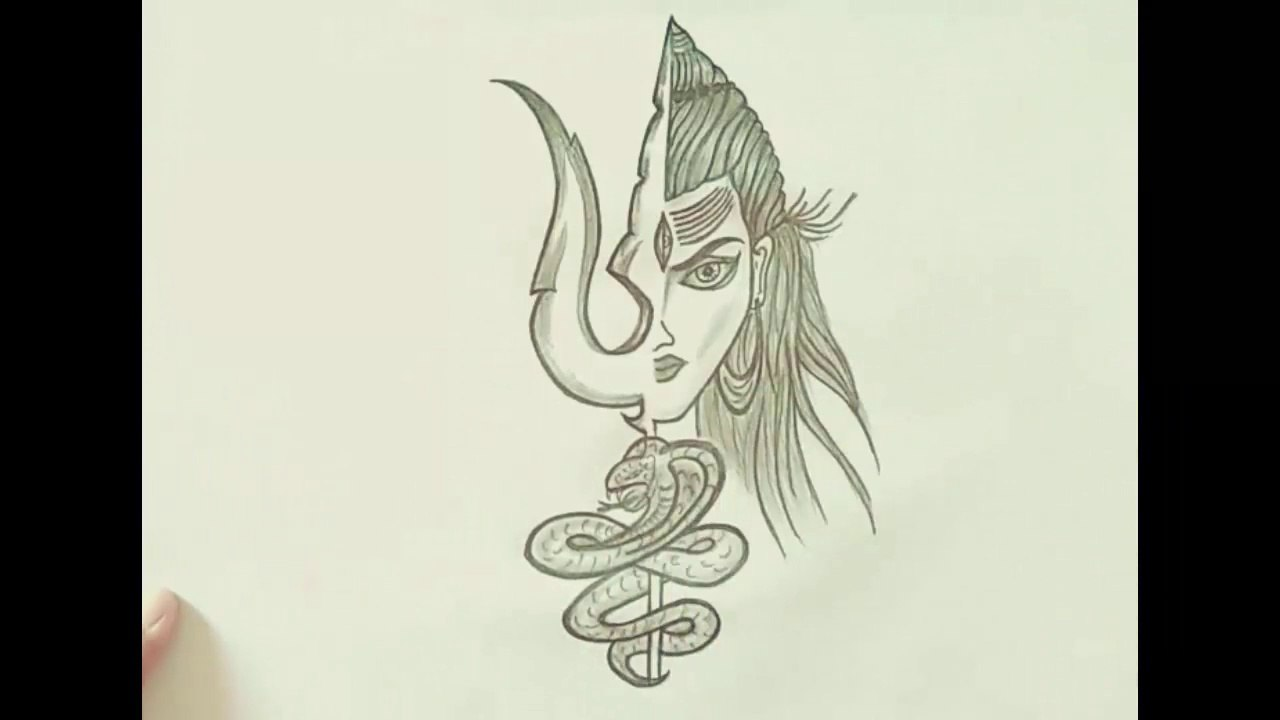 How To Draw Lord Shiva Sketch With Paper And Pencil Art 9 God Shiva Art Video Dailymotion