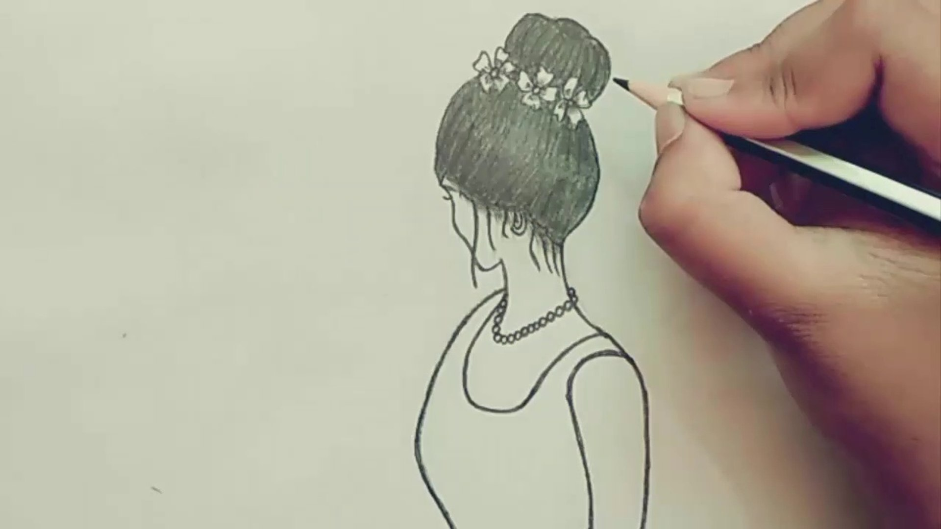 How To Draw A Beautiful Lady Sketch Draw With Paper Pencil Art 8 Paper Pencil Sketch Video Dailymotion
