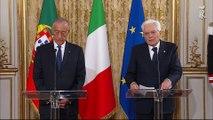 Roma - Mattarella - De Sousa dichiarazioni alla stampa (12.11.19)