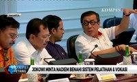 Jokowi Minta Nadiem Benahi Sistem Pelatihan dan Vokasi