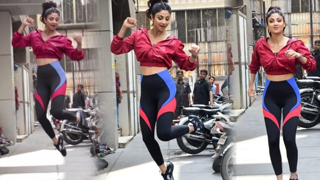 Shilpa Shetty JUMPS during fitness shoot;Watch video   FilmiBeat