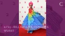 PHOTOS. Le look très remarqué de Conchita Wurst au bras de Bill Kaulitz (Tokio Hotel) au lancement de l'émission Queen of Drags