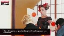 Clara Morgane en geisha : Les premières images de son calendrier (vidéo)