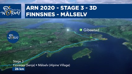 Stage 3 in 3D - Finnsnes to Målselv - Arctic Race of Norway 2020