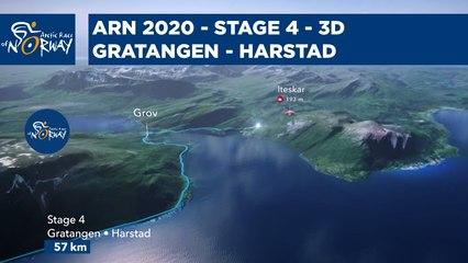 Stage 4 in 3D - Gratangen to Harstad - Arctic Race of Norway 2021
