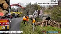 Un camion s'est renversé sur la commune de Mazet-Saint-Voy