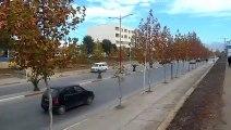 A street in Bouira city.Algeria.  شارع  في مدينة البويرة ، الجزائر