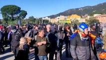 Manifestantes levantan corte en N-II para ir a manifestación en Girona