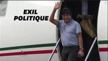 Les premiers mots d'Evo Morales réfugié au Mexique