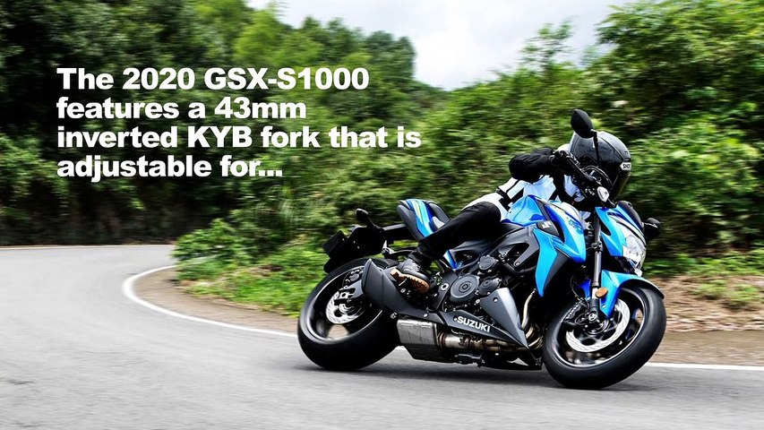 2020 Suzuki GSX-S1000 And GSX-S1000F First Look Preview
