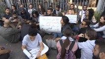 المحتجون بلبنان يغلقون مداخل قصر العدل في بيروت