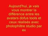 avatars Dofus tools VS avatars photofiltre