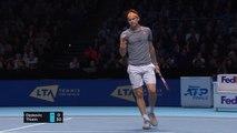 Thiem thwarts Djokovic to clinch final four berth
