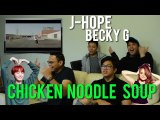 Eating CHICKEN NOODLE SOUP with J-HOPE and BECKY G (Reaction)