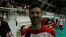 William Bersani après la victoire de Martigues Volley contre Saint-Nazaire