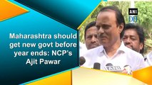 Maharashtra should get new govt before year ends: NCP's Ajit Pawar