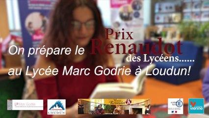 Le Prix Renaudot des lycéens 2019 se prépare à Loudun !