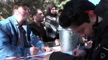Erzurum kızılay'a kan bağışlamak için şenlik düzenlediler